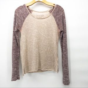 ⚠️ Free people color block marled T-shirt